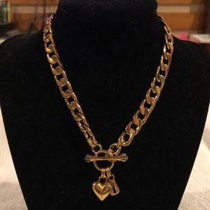 Juicy Couture Gold Banner Heart Starter Necklace